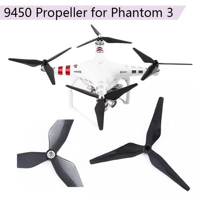 acheter maintenant ramassé meilleur service 4 paires d'accessoires de rechange à lame 3 feuilles auto serrantes pour  DJI Phantom 2 accessoires Drone 9450 hélices en Fiber carbone