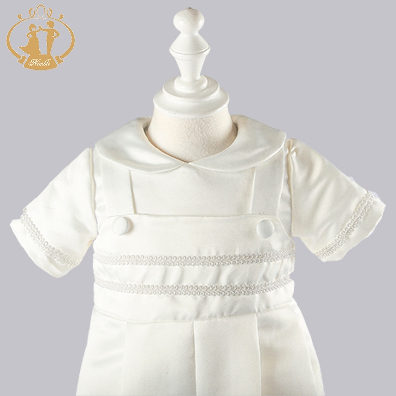 Nimble baby boy clothes Christening Gowns Solid baby clothes Newborn ...