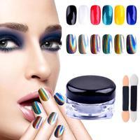 1g Box Nail Laser Holographic Mirror Glitter Shiny Powder Rainbow Pigment Unicorn Powder Hologram Mica Nail