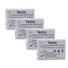 Tectra 4PCS EN-EL5 ENEL5 Digital camera Battery for Nikon Coolpix3700 4200 5200 5900 7900 P3 P4 P80 P90 P100 P500 P510 P530 P5000 P6000