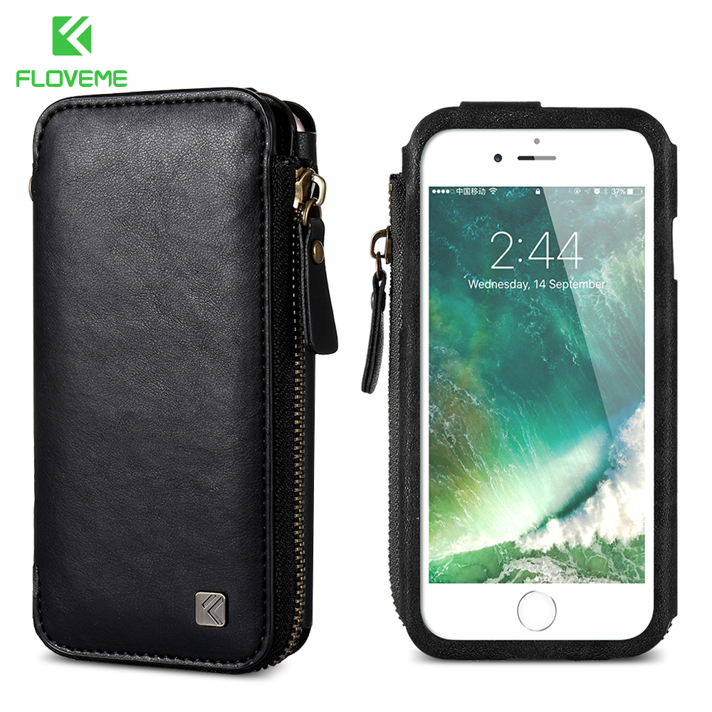 Detail Feedback Questions about FLOVEME Vintage Wallet Case for iPhone 6 6S  7 Plus Leather Cover Zipper Handbag Card Holder Retro Phone Cases for  Samsung S6 ... 0ca63b676bd75
