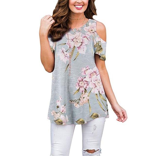 Sexy hors épaule été t-shirt femmes imprimé fleuri haut décontracté o-cou chauve-souris manches tournesol t-shirt chemises de grande taille hauts femme