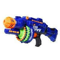 Removable Electric Hot Air Soft Toy Gun with 40pcs Soft Bullet Bursts Revolver Gun Outdoors Battle Live CS Toys Guns For Child
