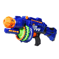 Removable Electric Hot Air Soft Toy Gun with 40pcs Soft Bullet Bursts Revolver Gun Outdoors Battle Live CS Toys Guns For Child