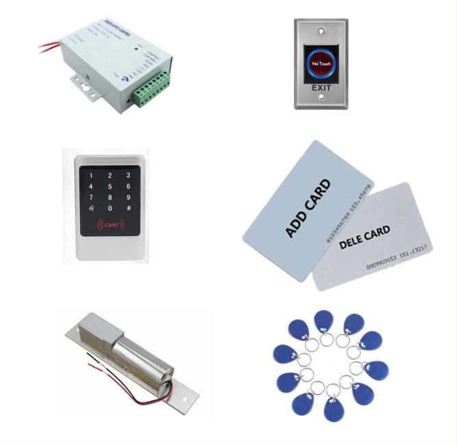 Metal Access control kit,em/ ID keypad access control+ power+bolt lock+exit button+ 10 keyfob ID tags,sn:Tset-2 r 71g airbrush air compressed spray gun auto paint pneumatic gun car spray paint guns painting automotive paint power tools