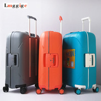 Strong Rolling Travel Luggage bag ,Fashion Universal Wheel Suitcase,New Trolley Case,PP Carry Ons, Box with password Lock