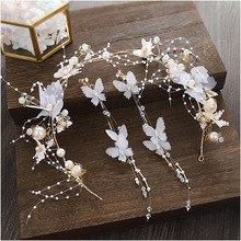 Korean Fairy New Mori Bride Hairpiece Birthday Hairdressing Set Sweet Style Wedding hair Accessories