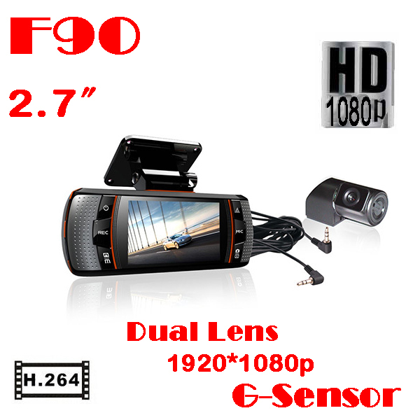 ФОТО Best dual Car DVR Camera F90G 2.7
