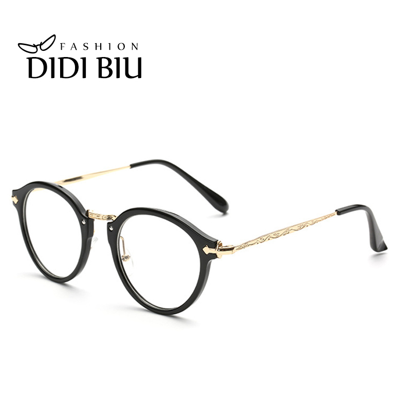 d697c1fa21 DIDI Thin Eye Glasses Frames Goggles Gold Flower Round Metal Eyeglass Frame  Women Prescription Eyewear Optical