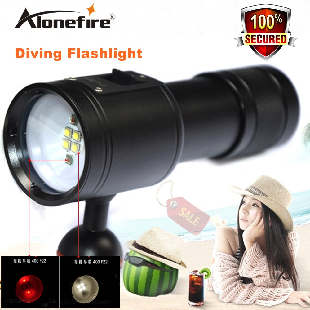Alonefrie DV23 diver torch diving photography lights fill light red white LED lighting torch 26650 battery Fishing Flashlight кабель dv карта памяти minisd где в калининграде
