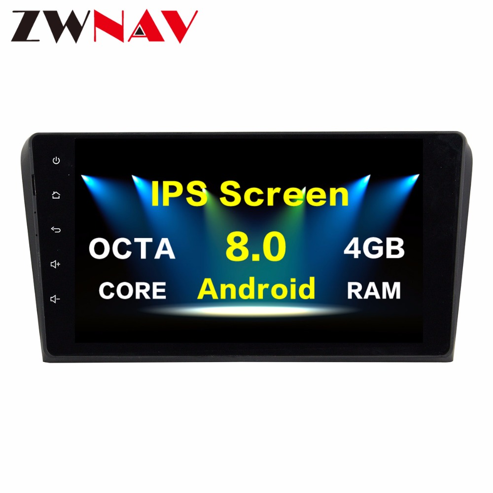 <font><b>2Din</b></font> Android 8.0 Car multimedia Player Autoradio GPS Navigation head unit for <font><b>Mazda</b></font> 3 2010 2011 2012 bluetooth wifi Radio No DVD image