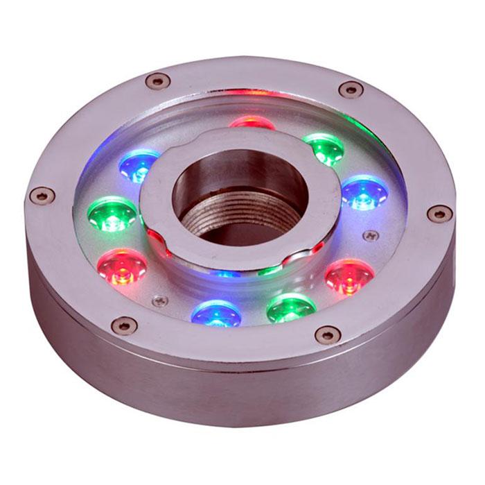 Высокое качество 304 Нержавеющая сталь 24 В 27 Вт 160 мм RGB фонтан свет кольцо вокруг светло-подводный светодиодный свет бассейн ...