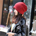 2016 New Winter Hat for Men and Women Plain Beanies Knitted Linen Neck Warmer Cap Crochet Wholesale Hats 56 CM To 60 CM L17