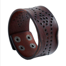 New vintage leather bracelet Personalized snap personalized leather bracelet for men and women  retro punk  Student wristband personalized retor paint bracelet