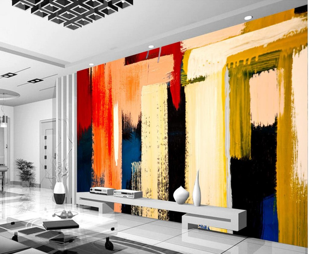 Home Decoration room modern wallpaper Graffiti paint color ...