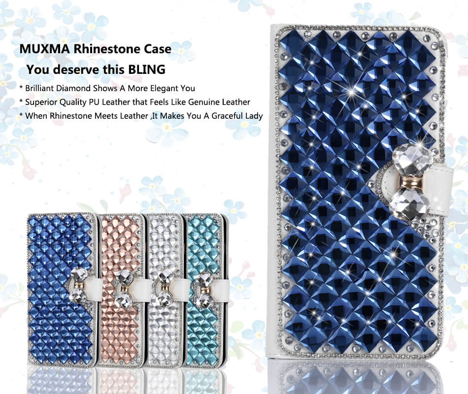 Diamind Case For Xiomi Xiaomi Redmi Note 4X Glitter Rhinestone Leather Cover Jewelled Case Card Slot Phone Case For Redmi Note 4