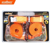 HORUSDY 20m Ratchet Tie Down Strap S Hooks Buckle Metal For Moving Appliances Lawn Equipment Motorcycle