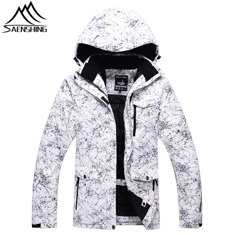 все цены на Saenshing Winter Ski Jacket Men Waterproof Super Warm Snowboard Snow Jacket Male Skiing Snowboarding Camping Hooded Coats S-3XL