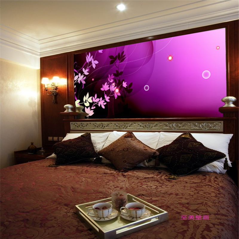 seamless background bedroom tv living painting stereoscopic papel mural 3d