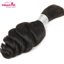 WA...WONDERFUL Loose Wave 10-30 M Brazilian Remy Hair Nature Color Human Braiding Bulk Braids