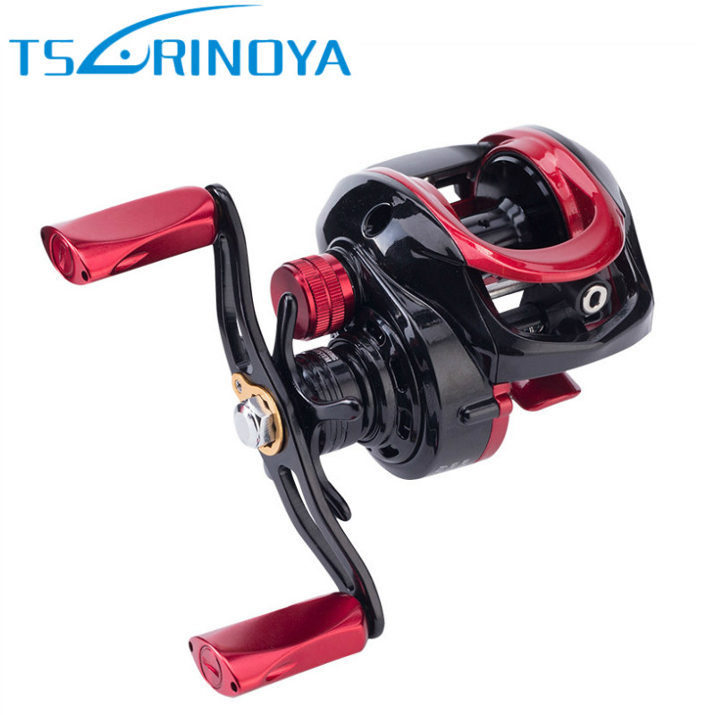 TSURINOYA XF-150 Baitcasting Fishing Reel 9+1 Bearing 6.6:1 Water Drop Wheel Magnetic Brake System Fishing Reels Bait Casting trolling reel 9 1bb drum wheel carp baitcasting reels centrifugal brake casting saltwater fishing reel super power drag 30kg