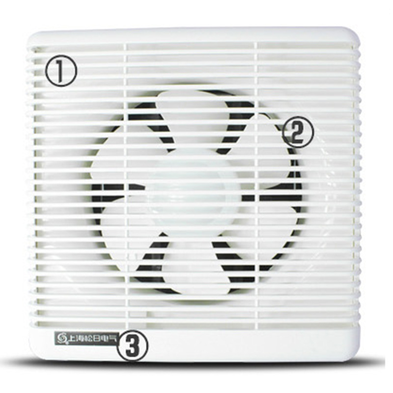 Ventilation Fan White Wall Mounted Window Glass Small Fan