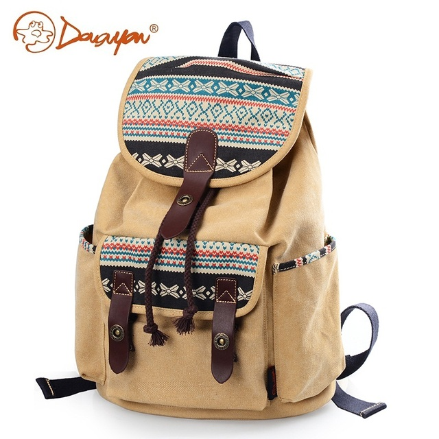 62e5eb436a38ef Douguyan Fashion Women School Backpack Brand Beautiful Girl Canvas Backpack  Schoolbag Travel Bag G00137B