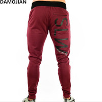 Mens Gyms Fitness Sweatpants Pants Male Bodybuilding Workout Drawers Casual Elastic Cotton Brand Trousers Joggers Pants