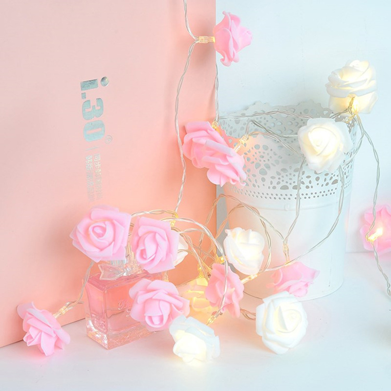 10 Led 20 Leds Romantic Rose Flower String Light For Holiday Wedding Xmas New Year Home Dedroom Table Decor AA Battery Garland (1)