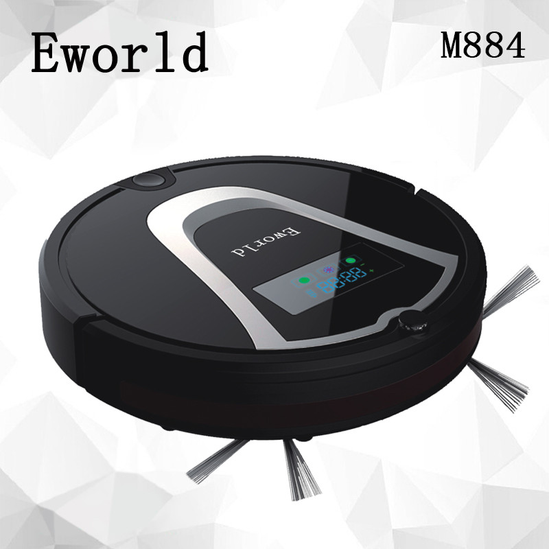 Eworld M884 Intelligent Robot Vacuum Cleaner for Home Slim HEPA Filter Cliff Sensor Remote control Self Charge ROBOT ASPIRADOR