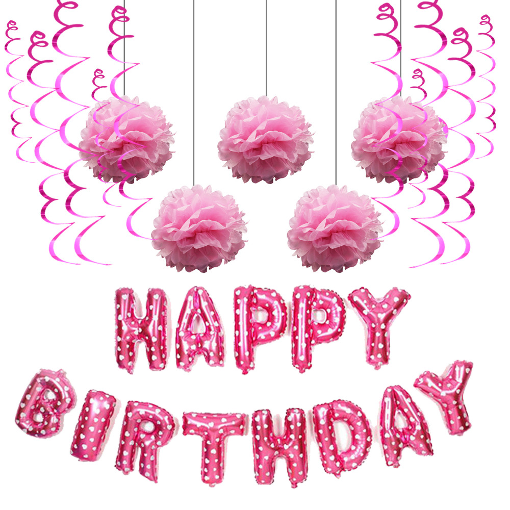 Pink Glitzer Nr Rosa Happy Birthday 398 Stickerbogen
