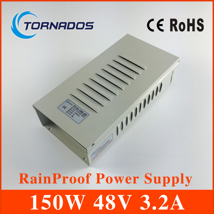 150W 3.2A 48V Rainproof outdoor Single Output Switching power supply smps AC TO DC FY-150-48 hot sale 12 volt switching power source supply rainproof 12v 15 200w fy 201 12 16 5a single output china