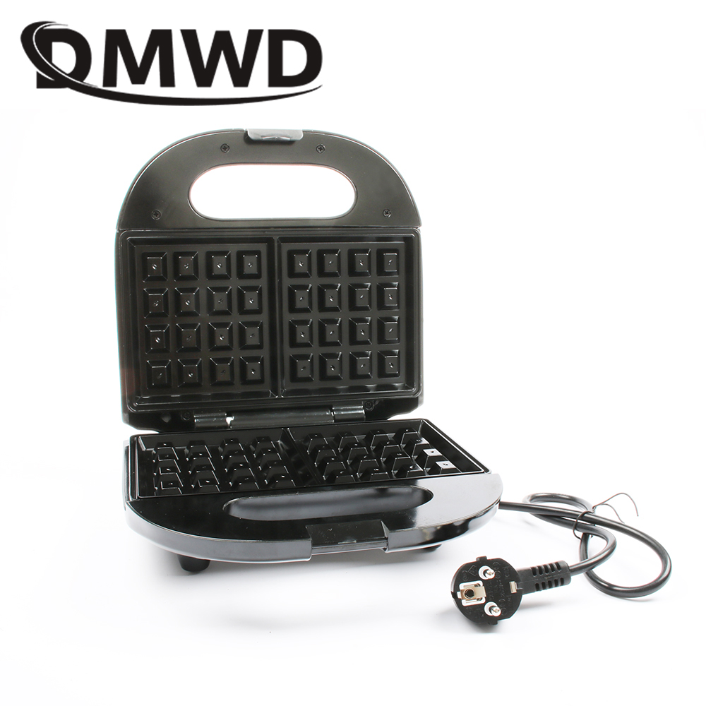 DMWD Electric mini cake oven Eggs Waffle Maker muffins Toaster breakfast bread Non-stick baking machine grill 220-240V EU plug dmwd mini toaster electric oven multifunction timer making biscuits bread cake pizza cookies baking machine 12l liter 900w eu us
