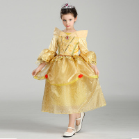 Retail Beauty And Beast Cosplay Dresses For Girls Belle Princess Kids Girl Costumes Christmas Halloween Costumes