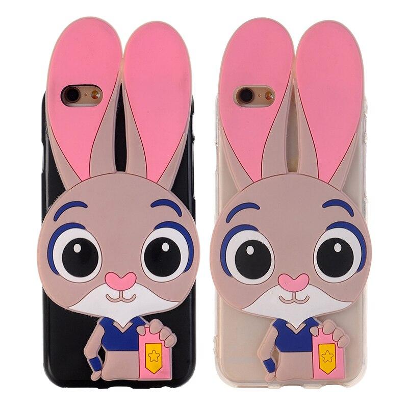 3D Мультяшные милые чехлы для телефонов с изображением Джуди Банни для Leagoo KIICAA POWER, милый кролик, резиновые чехлы, Мягкая силиконовая задняя к...