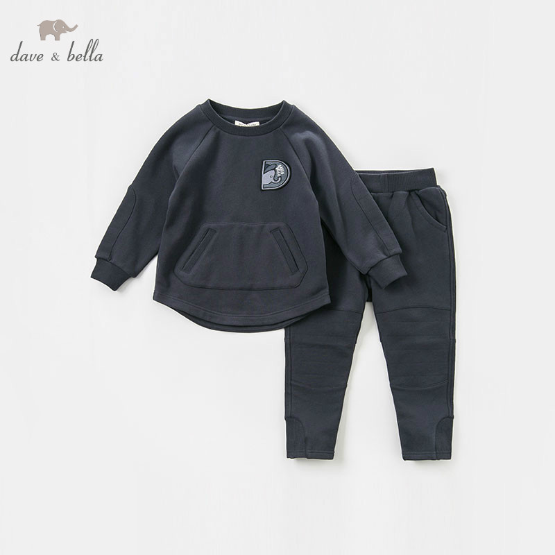 DBK8373 dave bella autumn kids boys 5Y-13Y clothing sets baby outfits children hight quality suits комплект одежды для мальчиков kids clothes sets 2 bib 6m 5y boys clothing sets