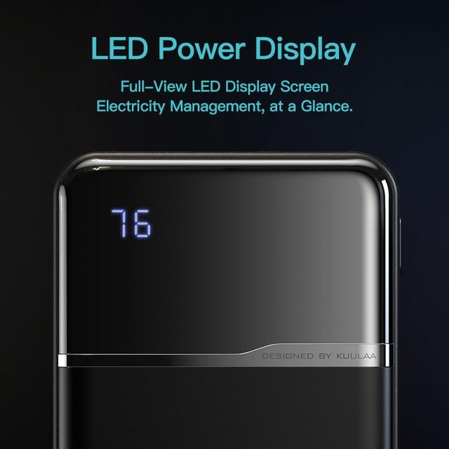 KUULAA Banca di Potere 10000 mAh Ricarica Portatile PowerBank 10000 mAh USB PoverBank Batteria Esterna del Caricatore Per Xiaomi Mi 9 8 iPhone 4