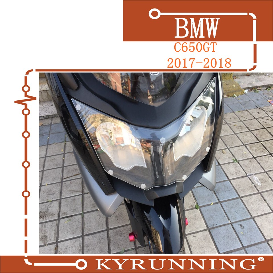 Teng Worship For BMW C650 GT C650GT K19 2012-2017 Motorcycle Acrylic Headlight Screen Protective Cover