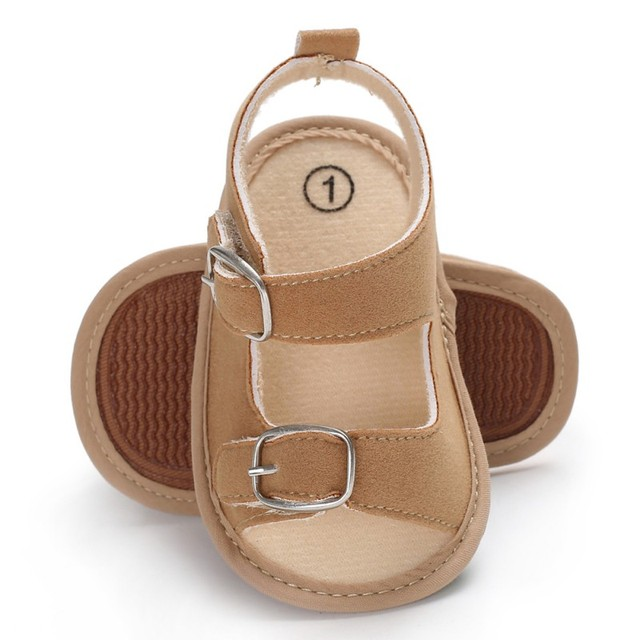 best website 8bce9 025b2 Stylish Baby Boys Girls Sandals Toddler Solid Color Slip On Shoes Summer  Baby PU Leather Sandals 0 18Months-in Sandals   Clogs from Mother   Kids on  ...