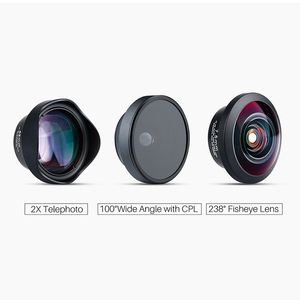 Image 2 - ULANZI 3in1 16mm Wide Angle / 7.5mm 238 Degree Fisheye/ 65mm 2X Telephoto Portrait Phone Camera Lens for iPhone Samsung Mobile