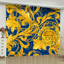 flowers European retro curtains for window luxury Court style blinds finished drapes blackout parlour room blind