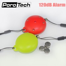 Wholesale 50pcs/lot 120db anti-wolf personal safety alarm keychain emergency panic alarm for women kids and students