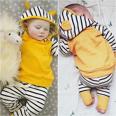2PCS Baby Boys & Girl Batman Hooded Tops Sweatshirt + Pants Outfit Clothing Set