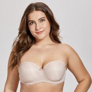Image 2 - Nữ Con Số Đầy Đủ Nội Y Liền Mạch Hơi Lót Áo Ngực Multiway Quây Ngực