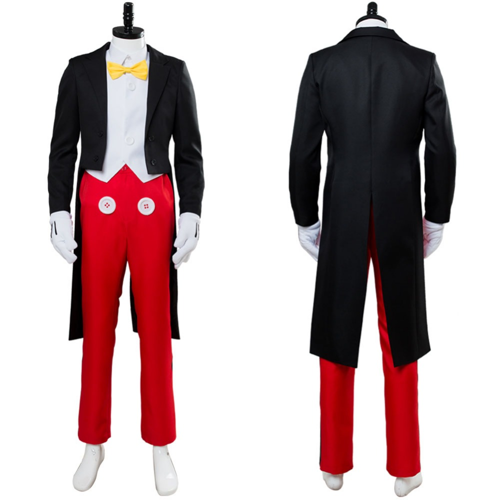 Custom Made Costume Mickey Cosplay Mouse Costume Adult Men s Tuxedo Dinner Suit Uniform Halloween Cosplay
