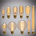 Luz Edison Lâmpada do vintage Lâmpadas Incandescentes E27 E26 Dimmable Lâmpada ST64 Antigo Retro Vintage A19 T45 Lâmpadas de Incandescência