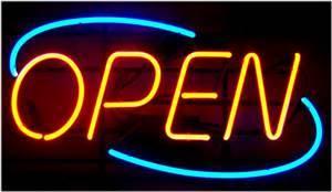 Open Neon Light Sign