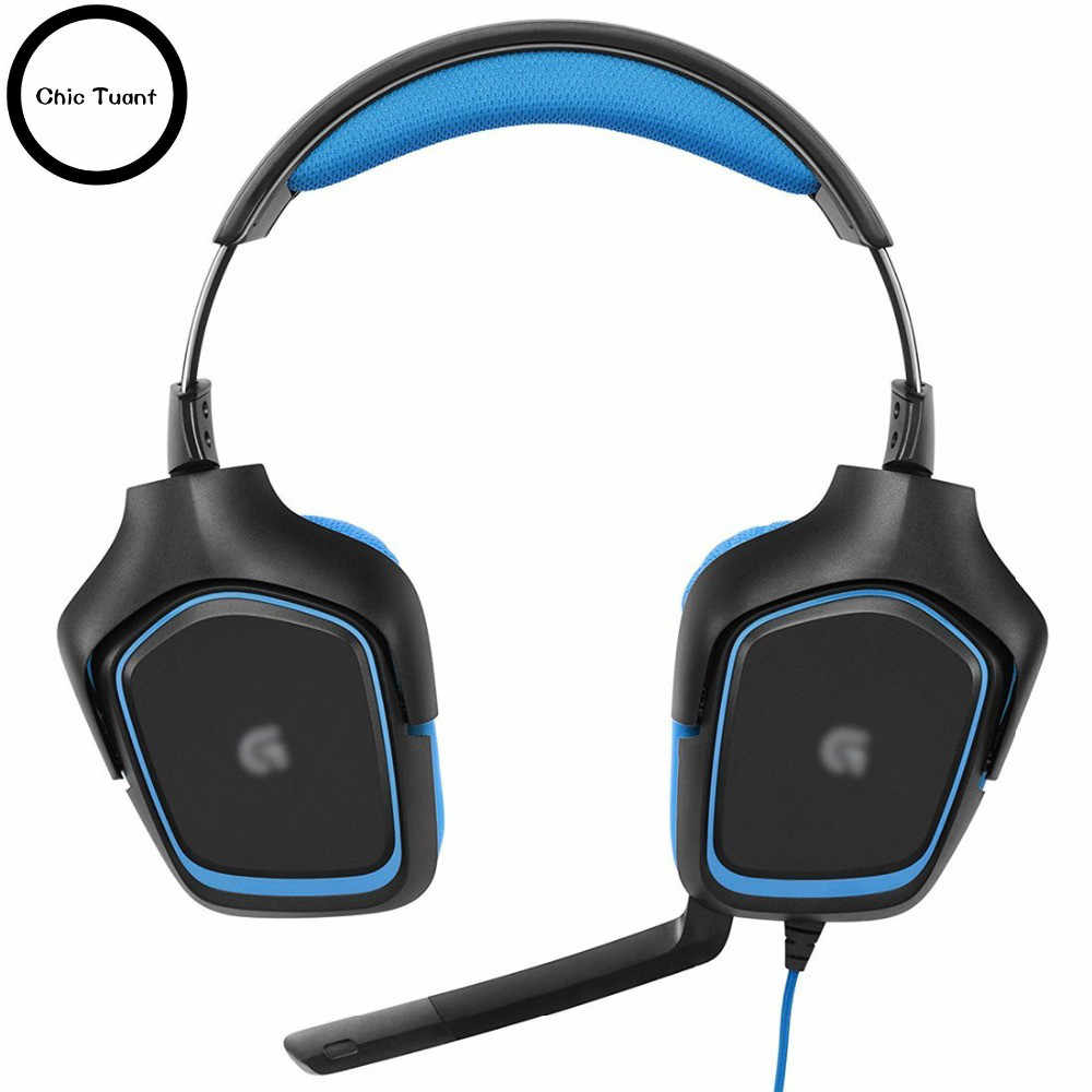 717f06614e8 Replacement Earpads Ear Pads Cushions for Logitech G35 G930 G430 F450  Surround Sound Gaming Headset headphones