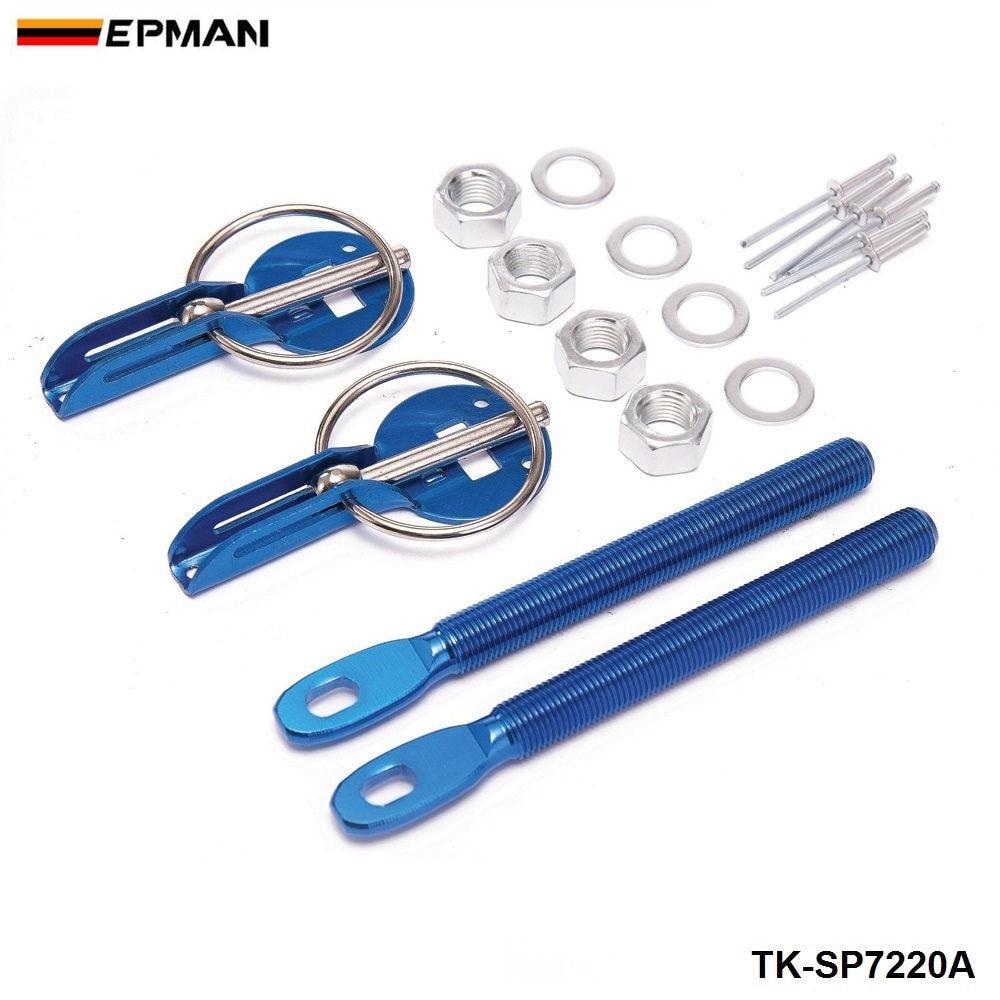 Спортивный EPMAN Универсальный легкий гоночный спортивный Серебряный алюминиевый колпачок для Ford Mustang 01-04 TK-SP7220A - Цвет: Синий