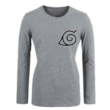 Anime de One Piece Naruto Konoha Símbolo de la camiseta Para Las Mujeres de manga larga Tops Creativa Impreso cosplay Camisa de Primavera Y Verano